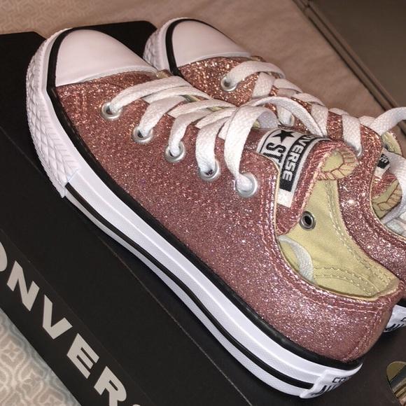BNIB✨Rose Gold Glitter Converse Shoes fd40741b8
